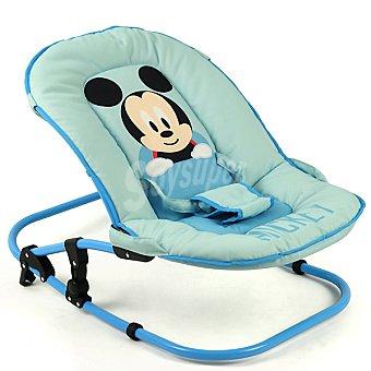 Mickey Disney Hamaca completa con cojín para el cabezal en color azul