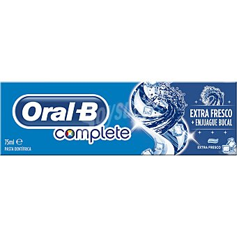 ORAL B Complete Pasta de dientes + Enjuague Bucal frescura duradera sabor menta fresca tubo 75 ml Tubo 75 ml