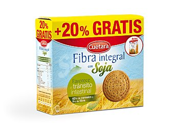 Cuétara Galletas de fibra integral con soja Caja 600 g