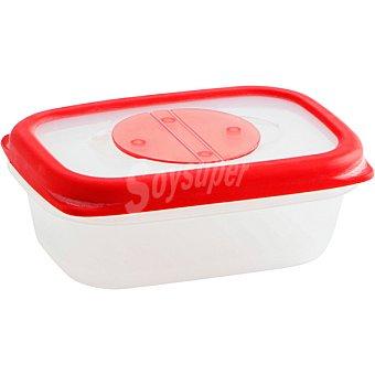 QUID Frigo-Box Hermético Rectangular transparente con filo rojo 35 cl 35 cl