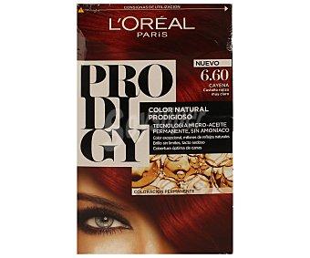 Prodigy L'Oréal Paris Tinte Cayena Castaño rojizo muy claro nº 6.60 coloración extraordinaria tecnología micro-aceite sin amoniaco Caja 1 ud