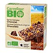 Barra cereales chocolate 125 g Carrefour Bio
