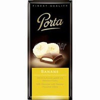 PORTA Chocolate con leche con relleno de plátano 100 g