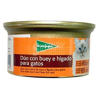 El Corte Inglés dúo con buey e hígado para gato Lata 85 g