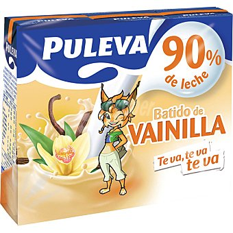 PULEVA Batido de vainilla Pack 3 envases de 200 ml