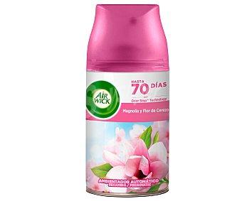 Air Wick Freshmatic Ambientador Magnolia y Flor de cerezo- Recambio 250 ml