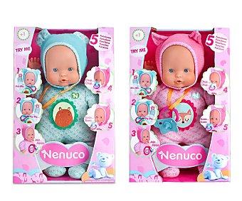 Nenuco Muñeco bebé blandito con 5 funciones, My Little Soft, nenuco