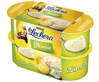 La Lechera Nestlé Mousse de limón Pack 4x60 g