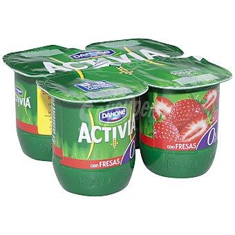 Activia Danone Yogur 0% fresa Pack de 4x125 g