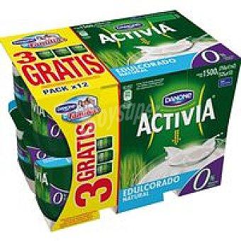 Danone Activia Activia 0% natural edulcorado Pack 12x125g