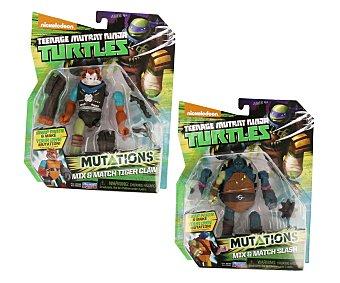 PLAYMATES Figuras articuladas Mix and Match de las Tortugas Ninja, con partes intercambiables, incluye arma 1 unidad