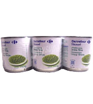 Carrefour Discount Guisantes muy finos al natural Pack de 3x140 g