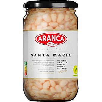 Aranca Alubias de Santa Maria cocidas aranca Frasco 400 g