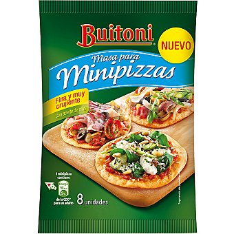 Buitoni Masa para minipizzas con aceite de oliva envase 265 g 8 unidades