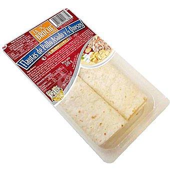La Broche Flautas de pollo asado y 4 quesos 2 unidades envase 220 g 2 unidades