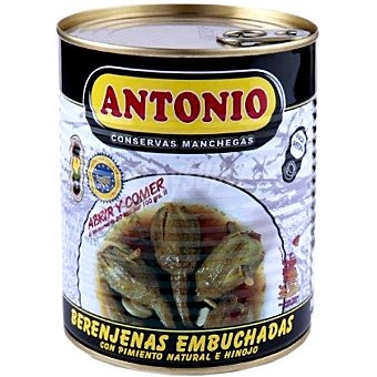 Antonio Berenjenas embuchadas con pimiento natural e hinojo D.O. Almagro Lata 350 g neto escurrido