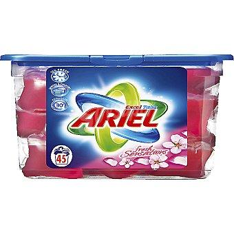 Ariel detergente máquina líqudo con actilift EXCEL TABS Sensaciones envase 45 capsulas