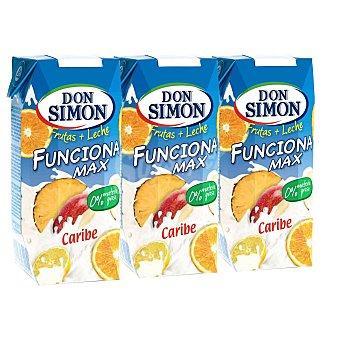 Don Simón Bebida de frutas con leche caribe funciona max Pack 3 unidades x  33 cl