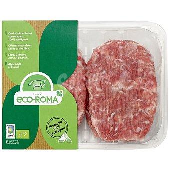 ECOROMA hamburguesas de cerdo ecológico bandeja 400 g peso aproximado 4 unidades