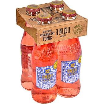 Indico Bio tónica orgánica artesana sabor fresa pack 4 botella 20 cl pack 4 botella 20 cl