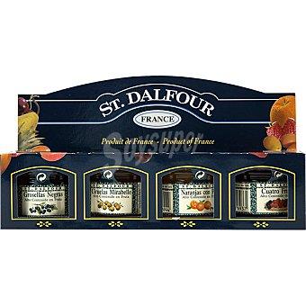 St. Dalfour Rapsodia de frutas surtidas Estuche de 4 envase 28 g