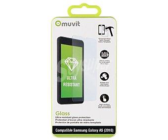Muvit Protector de pantalla, cristal templado, compatible con Samsung Galaxy A5 5 prot.pant