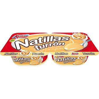 Kalise Natillas sabor a turrón pack 2 unds. 135 g Pack 2 unds. 135 g