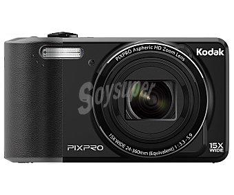 "KODAK FZ151 Cámara compacta de altas prestaciones, 16 Megapixeles, Zoom óptico 15x, pantalla 3"", color negra."