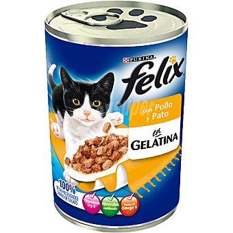 DE POLLO Albóndigas y pato para gato Lata 400 g