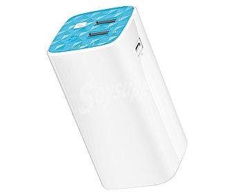 TP LINKS TL PB10400 Cargador de batería portátil, capacidad 10400mAh, 2 puertos Usb, voltaje de salida: 5V, 2.1A/1A. Función de linterna