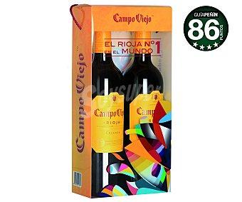 Campo Viejo Vino tinto crianza con denominación de origen Rioja Botella de 75 centilitros