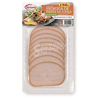 Carnicas Serrano Filetes de pechuga de pavo finas lonchas Envase 150 g