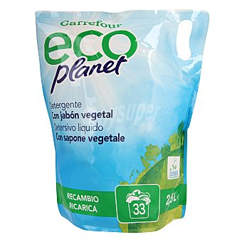 Carrefour Eco Planet Detergente líquido ecológico recambio 2,5 l