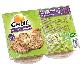 Gerblé Pan rústico rico en fibra sin gluten 12 rebanadas  Bolsa de 350 g