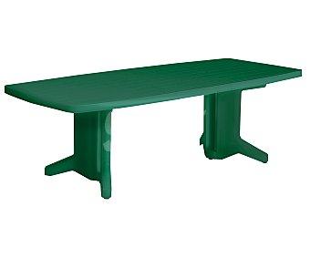 PLASMIR Mesa rectangular extensible, de resina verde y 130 - 230x91.5x72 centímetros 1 unidad