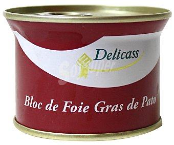 Delicass Bloc de foie gras de pato, Lata 130 g
