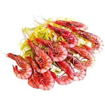 Gambas rojas cocidas 100-120 piezas Al peso 1 kg