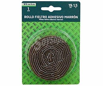 RAIA Rollo de Fieltro Color Marrón de 19 Milímetros de Ancho y 1.5 Metros de Longitud 1 Unidad