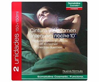 SOMATOLINE Hombre Tratamiento cintura y abdomen intensivo Hombre somatoline Cosmetic 2 Unidades de 150 Milillitros 2x150ml