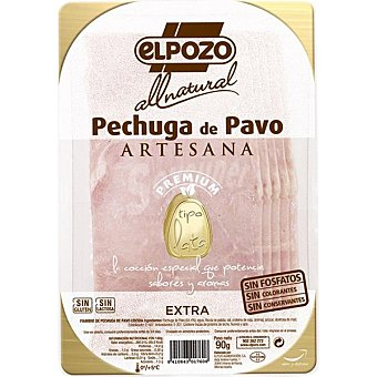 ElPozo Pechuga de pavo artesana tipo lata en lonchas All Natural envase 90 g