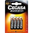 Evolution pila ultra alcalina AA (LR03) 1,5v Blister 4 unidades Cegasa