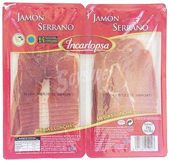 Incarlopsa Jamón curado lonchas medias 2 x 120 g
