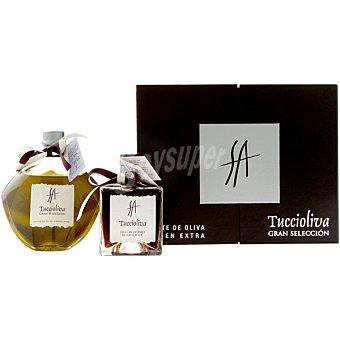 TUCCIOLIVA Gran Selección Aceite de oliva virgen extra botella 500 ml + vinagre de Jerez botella 250 ml Botella 500 ml