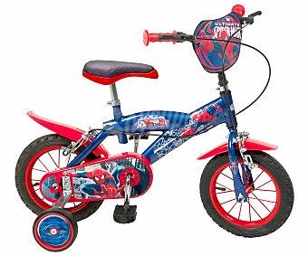 TOIMSA Bicicleta Infantil Spiderman 1 Velocidad 12 Pulgadas 1 Unidad