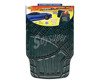 ROLMOVIL Juego de 4 alfombrillas universales de goma de color negro, modelo Luxe 1 unidad