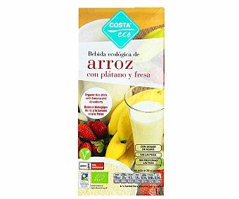 Costa Eco Bebida Ecológica Arroz Plátano y Fresa Brik 1 lt