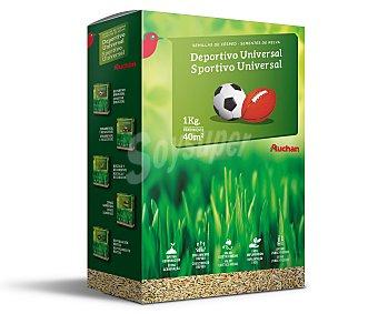 Auchan Semillas para plantar cesped para uso deportivo 1 kilogramo