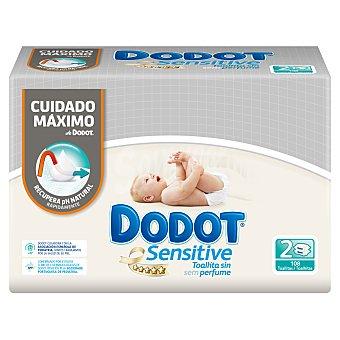 Dodot Sensitive - Toallitas para bebé, , 108 toallitas 2 paquetes de 54 unidades