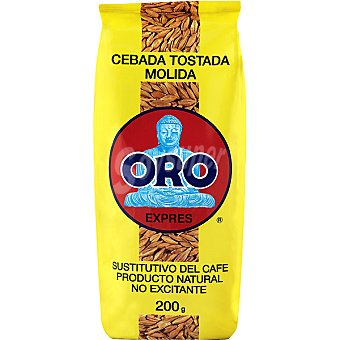 DIET Oro cebada tostada molida sustituto del café no excitante paquete 200 g