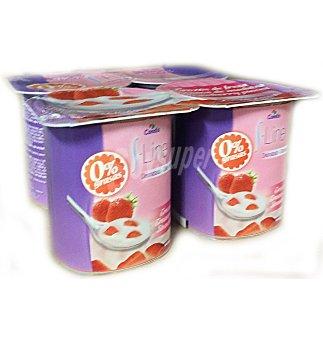 Yogur s.line desnatado con fresa 4 UNI
